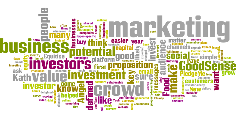 Marketing before seeking investment from the crowdword cloud