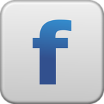 Image of Facebook logo button