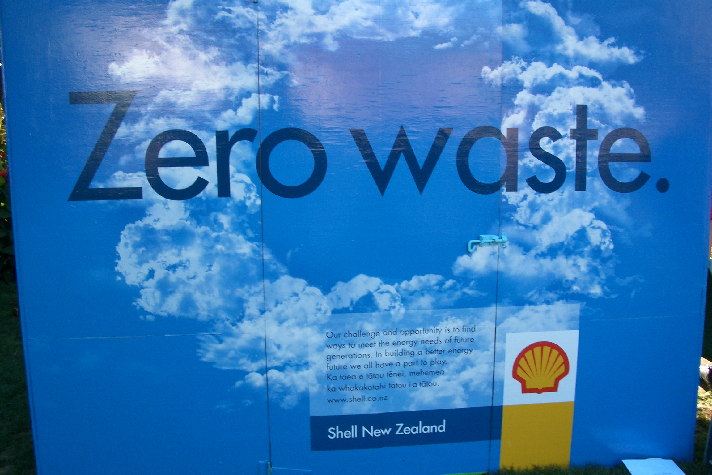 Shell sponsor Zero waste at Womad