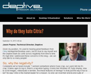 Screenshot from Deptive blog