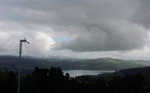 A Thinair turbine from Powerhouse Wind over Blueskin Bay, Otago