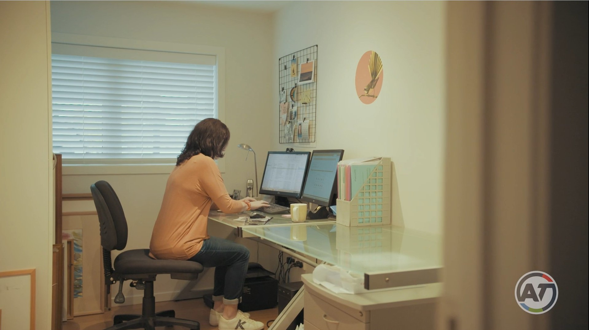 Karen at home office