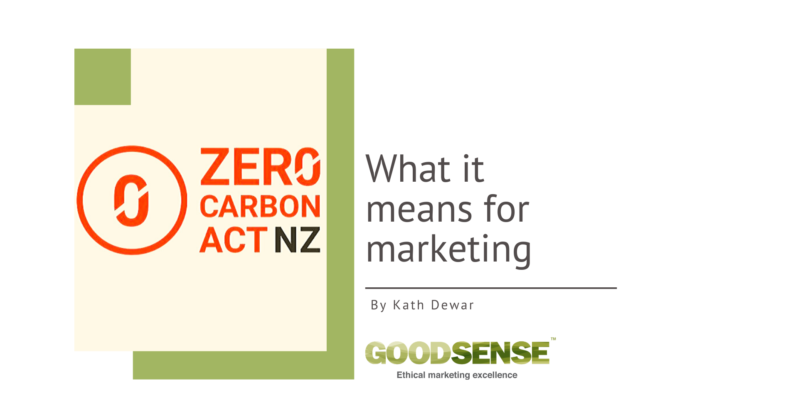 Zero carbon act for marketing