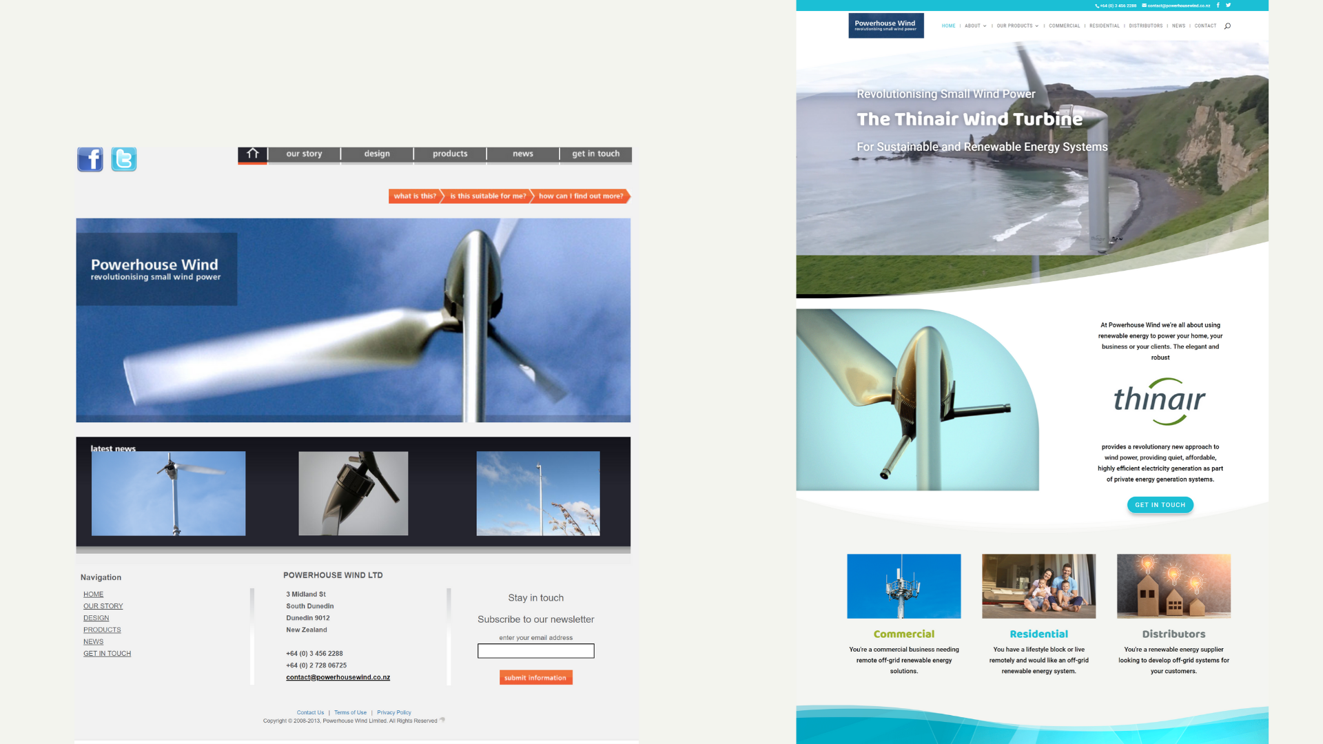 Powerhouse wind website